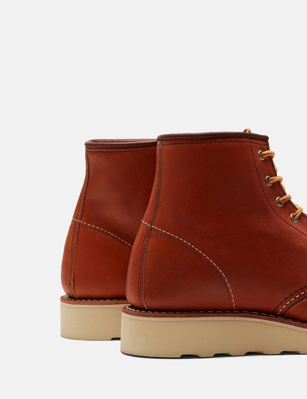 """Red Wing Shoes Heritage Work 6"""" Moc Toe Boots - Tan Oro Legacy"""