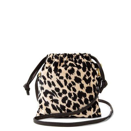 Clare V. Phone Pouch - Leopard Velvet
