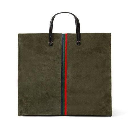 Clare V. Simple Tote - Army Suede