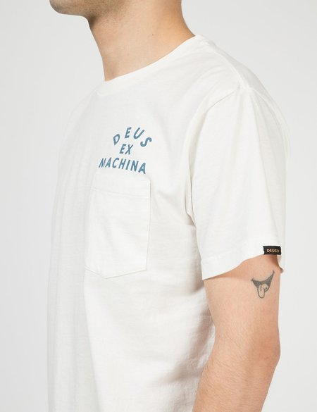 Deus Ex Machina Tokyo Pocket T-Shirt - Vintage White