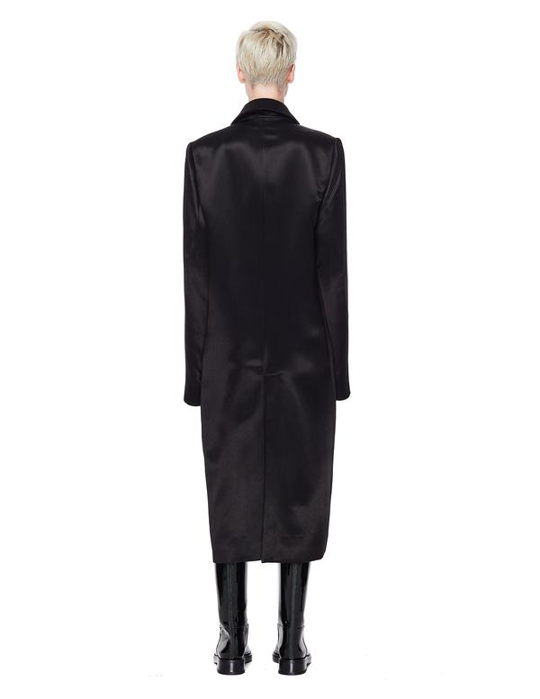 Ann Demeulemeester Satin Coat - Black