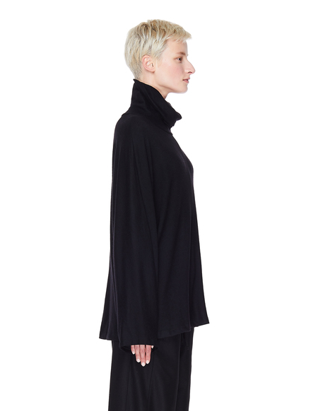 The Row Cashmere Rie Turtleneck Top - Black