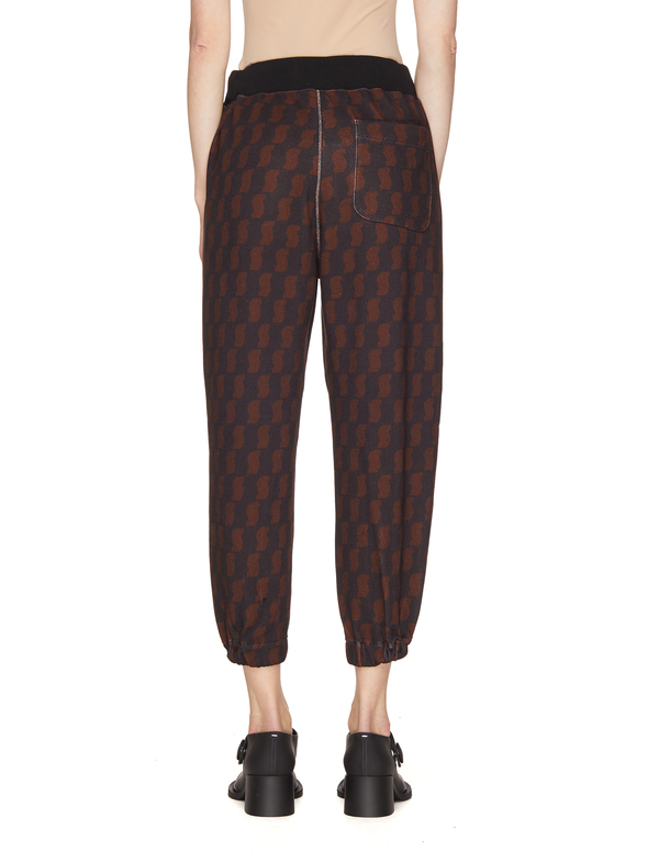 Undercover All Over Printed Cotton Sweatpants - Brown