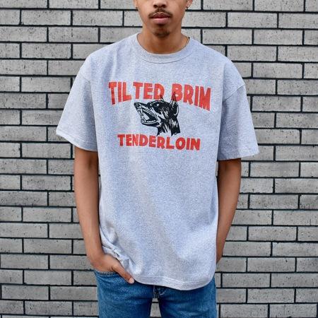 Beware Doberman Heavyweight T-Shirt - Grey