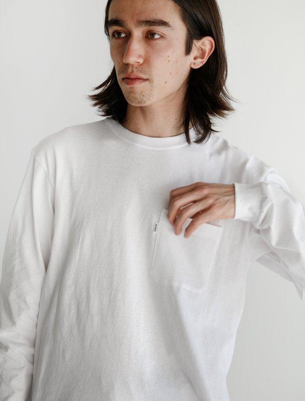 Adsum Long sleeve Pocket Tee - Optic White