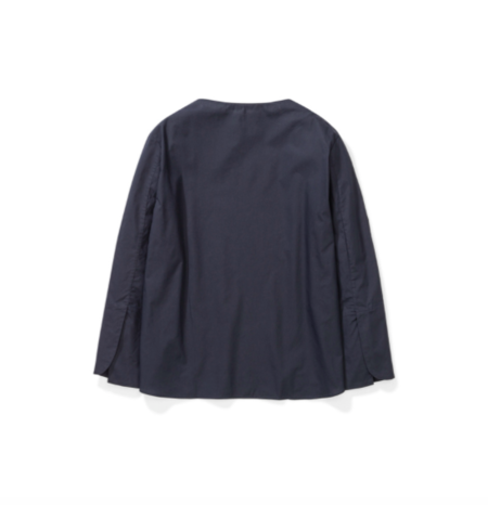 Norse Projects Sigrid Poplin Blouse - Dark Navy