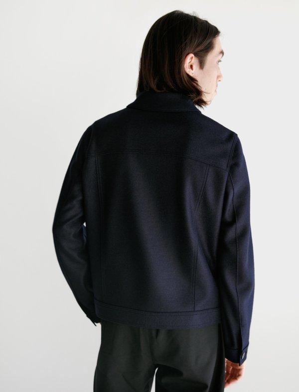 Harris Wharf London Western Jacket Pressed Wool - Navy