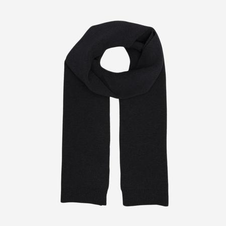 Colorful Standard Merino Wool Scarf - Deep Black