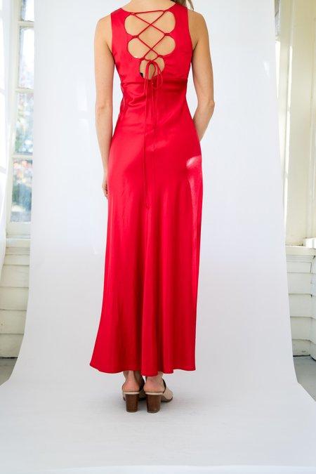 Vintage Silk Dress - Red