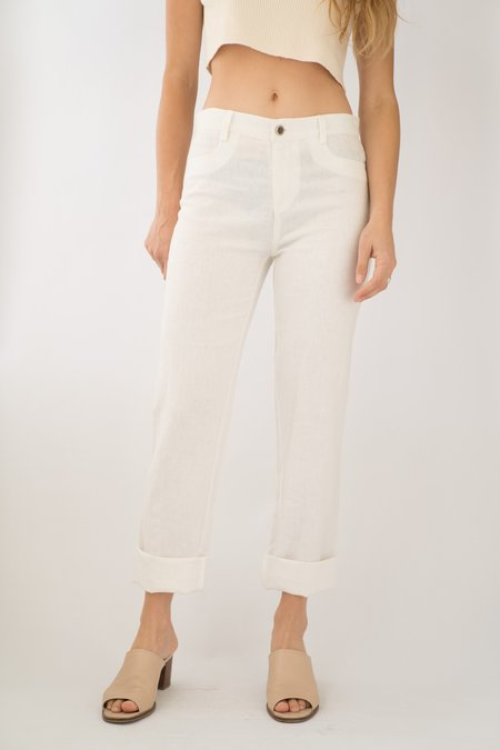 Backtalk PDX Vintage Linen Pants - White