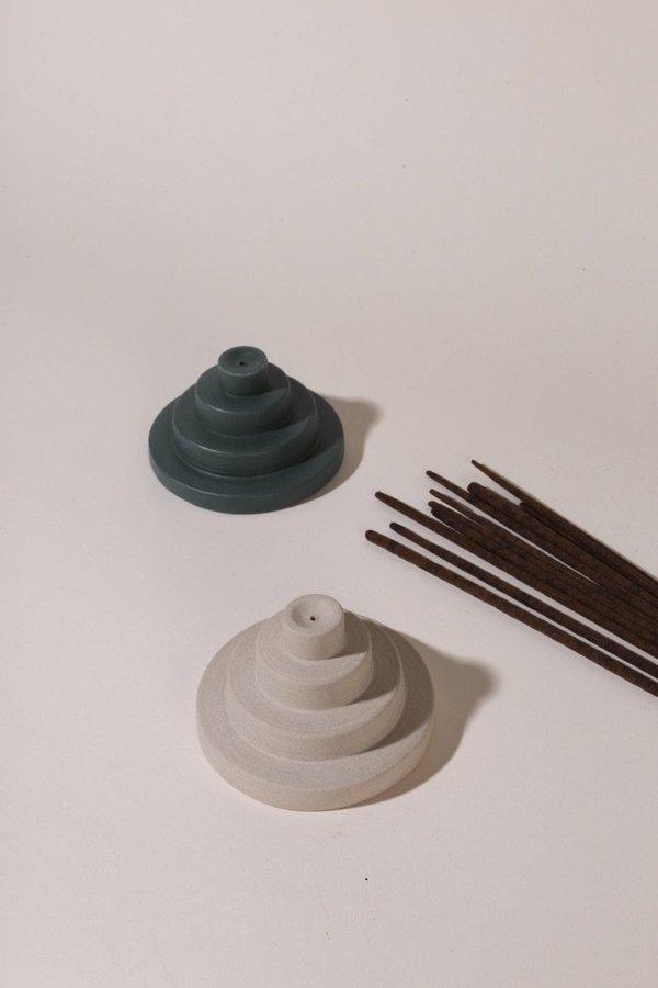 Yield Meso Ceramic Incense Holder - Jade