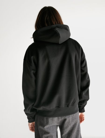 Auralee Baggy Polyester Sweat Pullover Parka - Black