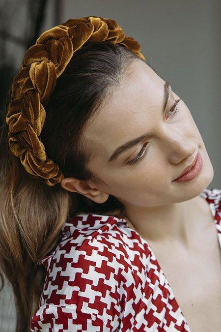 Jennifer Behr VELVET LORELEI HEADBAND - BLUSH