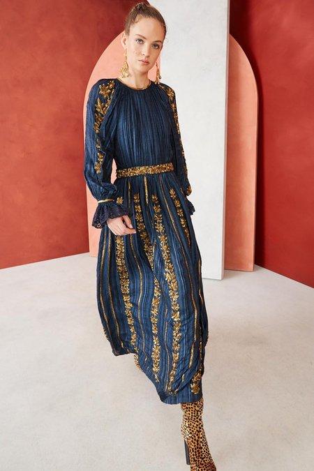 Ulla Johnson GENEVIEVE DRESS - NAVY