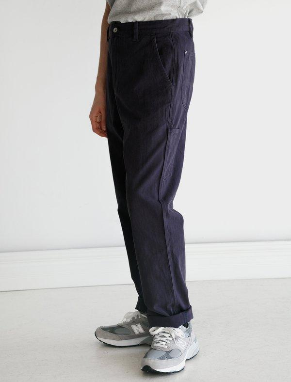 Adsum Utility Pant - Navy Herringbone