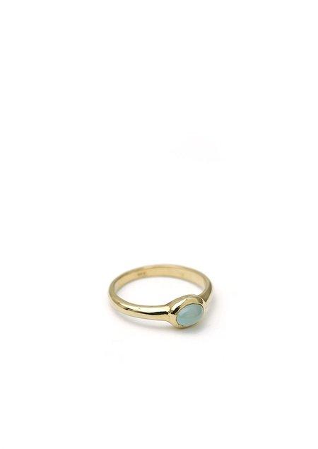 Tiro Tiro Aquamarine Ring - 14k Gold