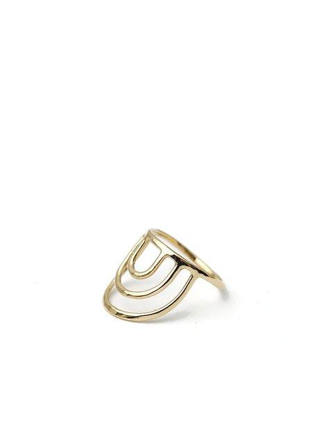 Tiro Tiro Porta Ring - 14k Gold