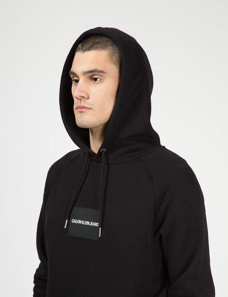 Calvin Klein Jeans Logo Badge Hoodie - Black