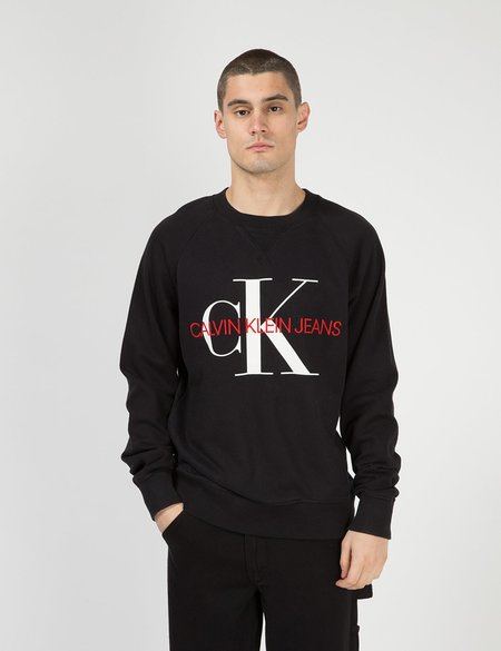 Calvin Klein Jeans Monogram Logo Sweatshirt - Black