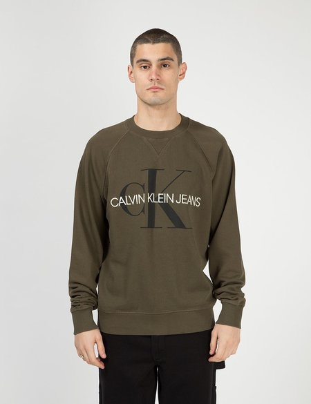 Calvin Klein Jeans Monogram Logo Sweatshirt - Grape Leaf Green