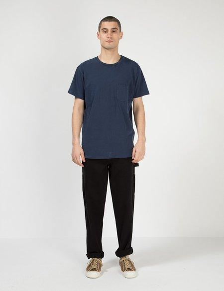 Velva Sheen Pigment Dyed USA Made T shirt - Navy Blue