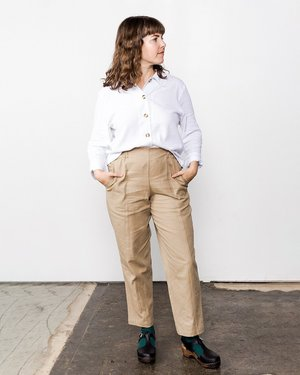 Me & Arrow Crop Shirt - White