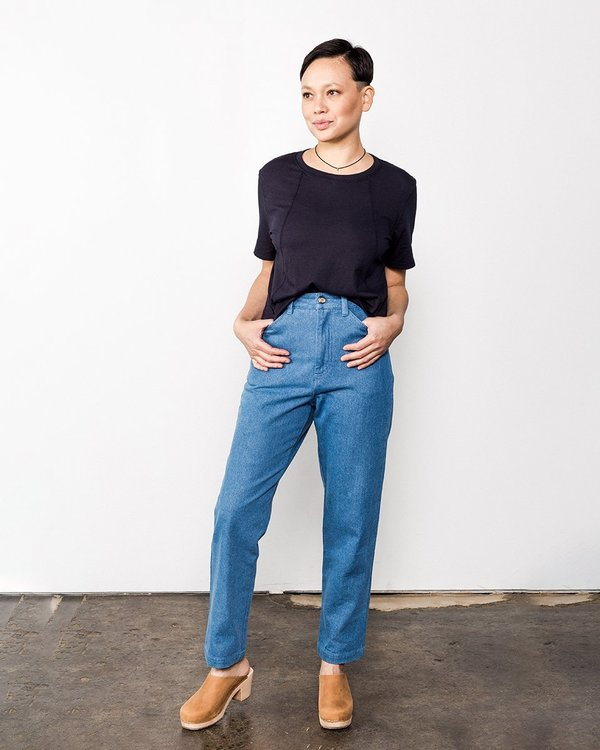 Me & Arrow Tomboy Denim Pants - Washed Vintage