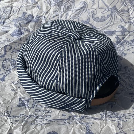 Unisex Beton Cire Miki Hat - Blue Stripes