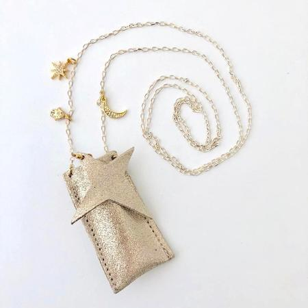 kids atsuyo et akiko amulet crystal necklace - sparkle champagne