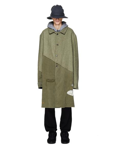 Greg Lauren 50/50 Army Tweed Coat - Khaki