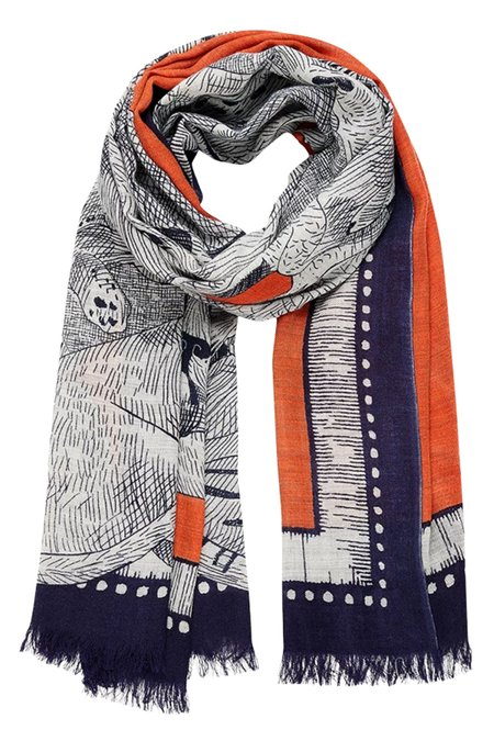 Inouitoosh Balthas Wrap - Orange/Navy