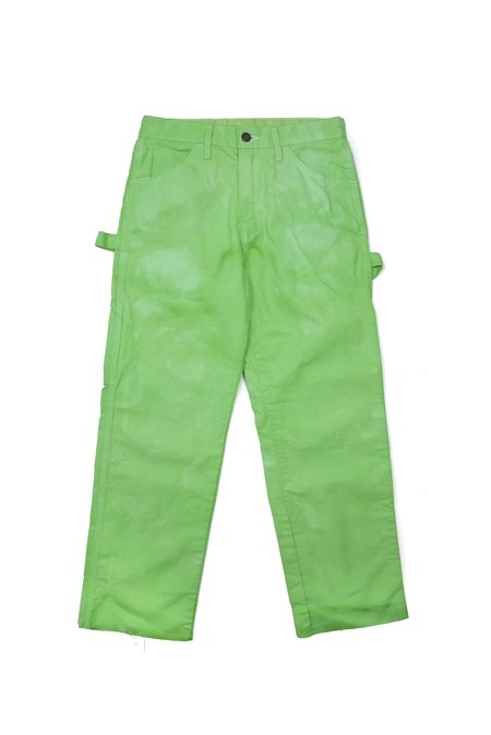 upstate Dyed Dickies Pants - Limeade