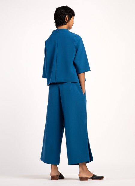 KAAREM Bambu Relaxed Wide Split Leg Pant - Blue
