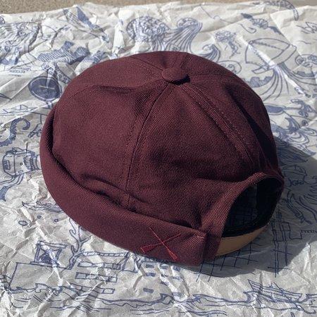 Unisex Beton Cire Miki Hat - Prune