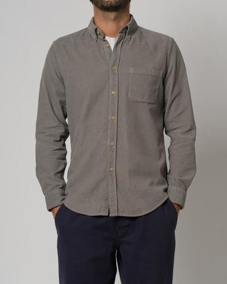 Portuguese Flannel The Lobo Corduroy Shirt - Grey