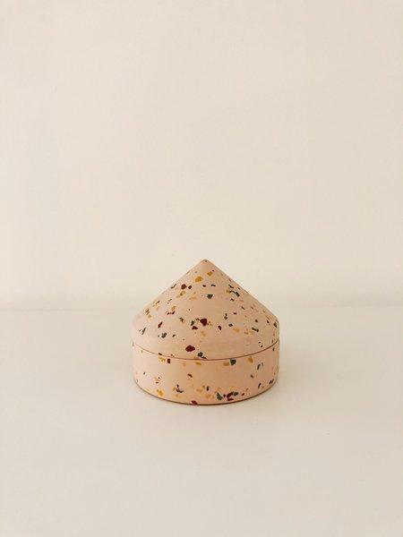 Capra Designs Terrazzo Cone Keepsake Box - Salt