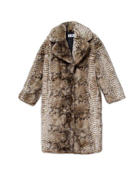 Jakke Katie Faux Fur Coat - Snake
