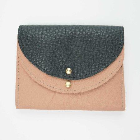 Robbie Moto Petite Luna Wallet - Clay/Black