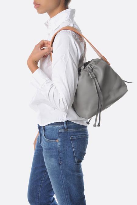 Bonastre Medium Lune Bag - Grey/Beige