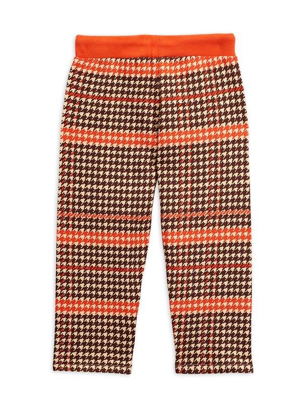 kids mini rodini houndstooth sweatpants - red
