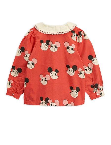 kids mini rodini ritzratz blouse - red