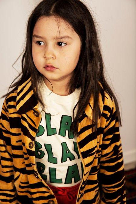 kids mini rodini tiger velour jacket - brown