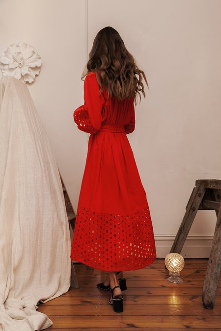 BEFORE MARCH Smock dress - red
