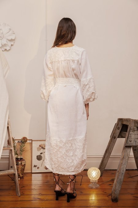 BEFORE MARCH Smock dress - white