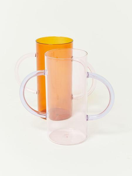 Sophie Lou Jacobsen Handle Vase - Amber/Pink