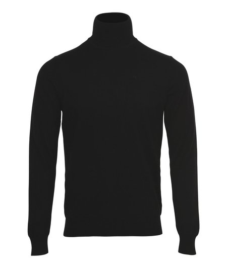 J Lindeberg Lyd Merino Roll Neck Knit Top - Black