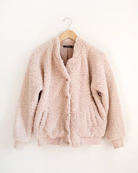 A Beauty by BNB Sherpa Bomber Jacket - Blush