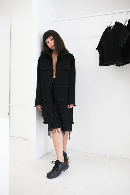 Ashley Rowe Oversized Jacket with Pockets - Black