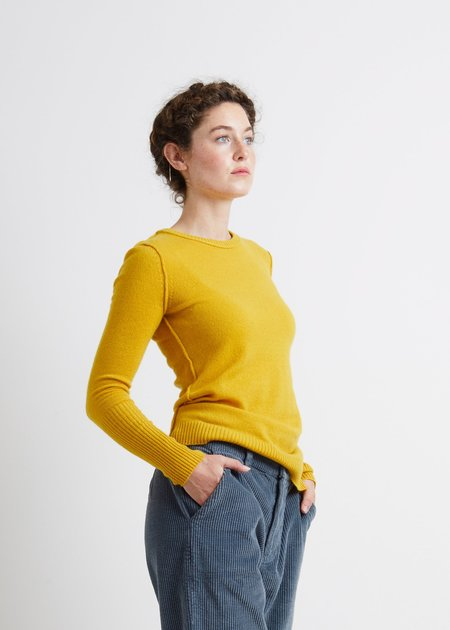 Autumn Cashmere Raw Edge Crew Sweater