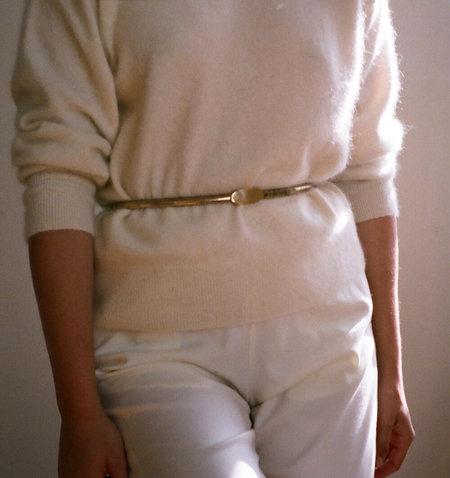Vintage Ovular Belt - Gold